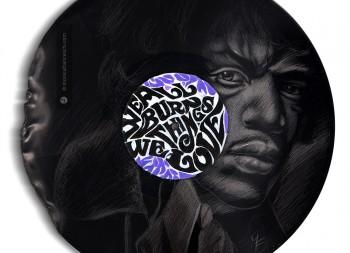 Jimi Hendrix Vinyl Artwork 1